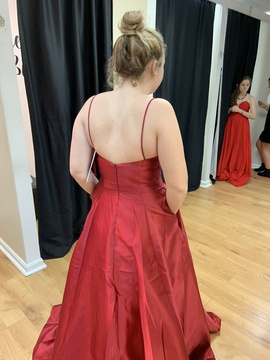 Red Size 12 A-line Dress on Queenly