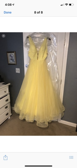 Yellow Size 12 A-line Dress on Queenly