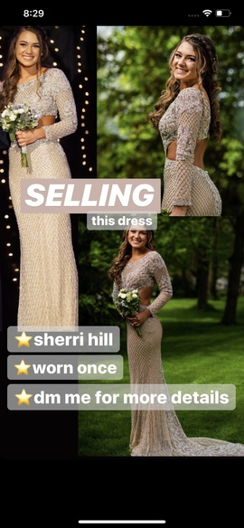 Sherri Hill Nude Size 4 Straight Dress on Queenly