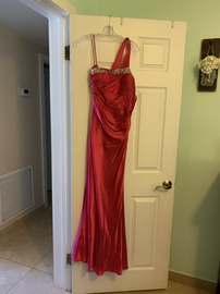 Queenly size 10 Jovani Pink Straight evening gown/formal dress
