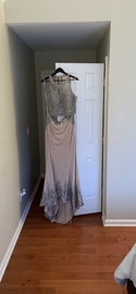 Queenly size 14  Nude Mermaid evening gown/formal dress