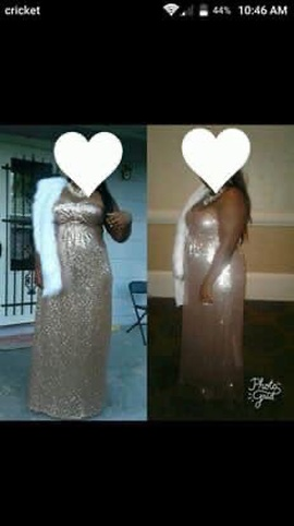 Queenly size 16  Gold Straight evening gown/formal dress