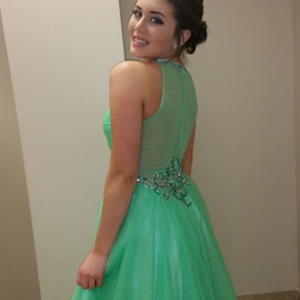 Queenly size 6 Angela & Alison Green Ball gown evening gown/formal dress