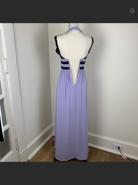 BCBG Purple Size 0 Black Ball gown on Queenly