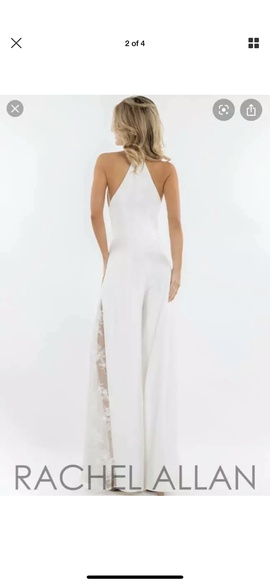 White Size 6 Romper/Jumpsuit Dress on Queenly