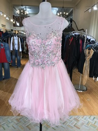 Alyce Paris Pink Size 8 Jewelled Sequin Cocktail Dress on Queenly