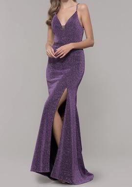 Purple Size 4 Train Dress on Queenly