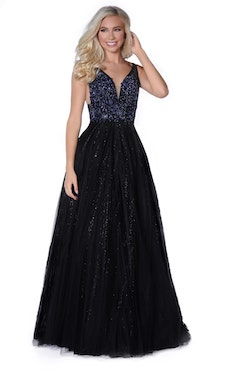 Vienna Black Size 10 Backless A-line Dress on Queenly
