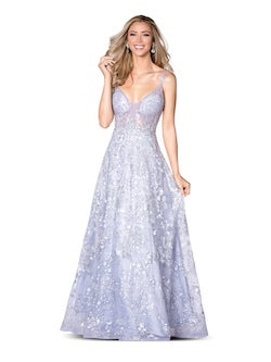 Vienna Purple Size 00 Lilac Lace A-line Dress on Queenly