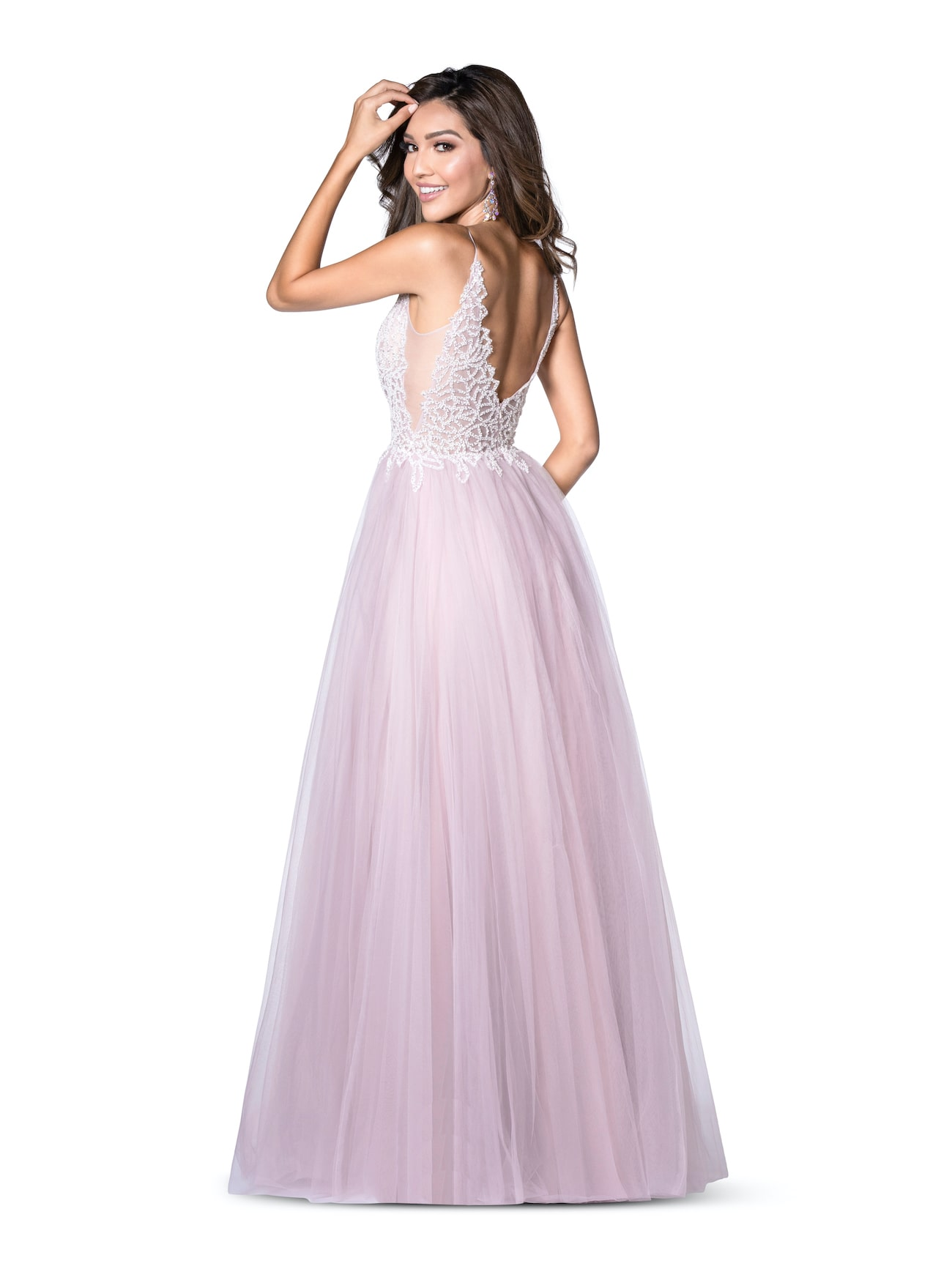 Vienna Light Blue Size 14 A-line Backless Side slit Dress on Queenly