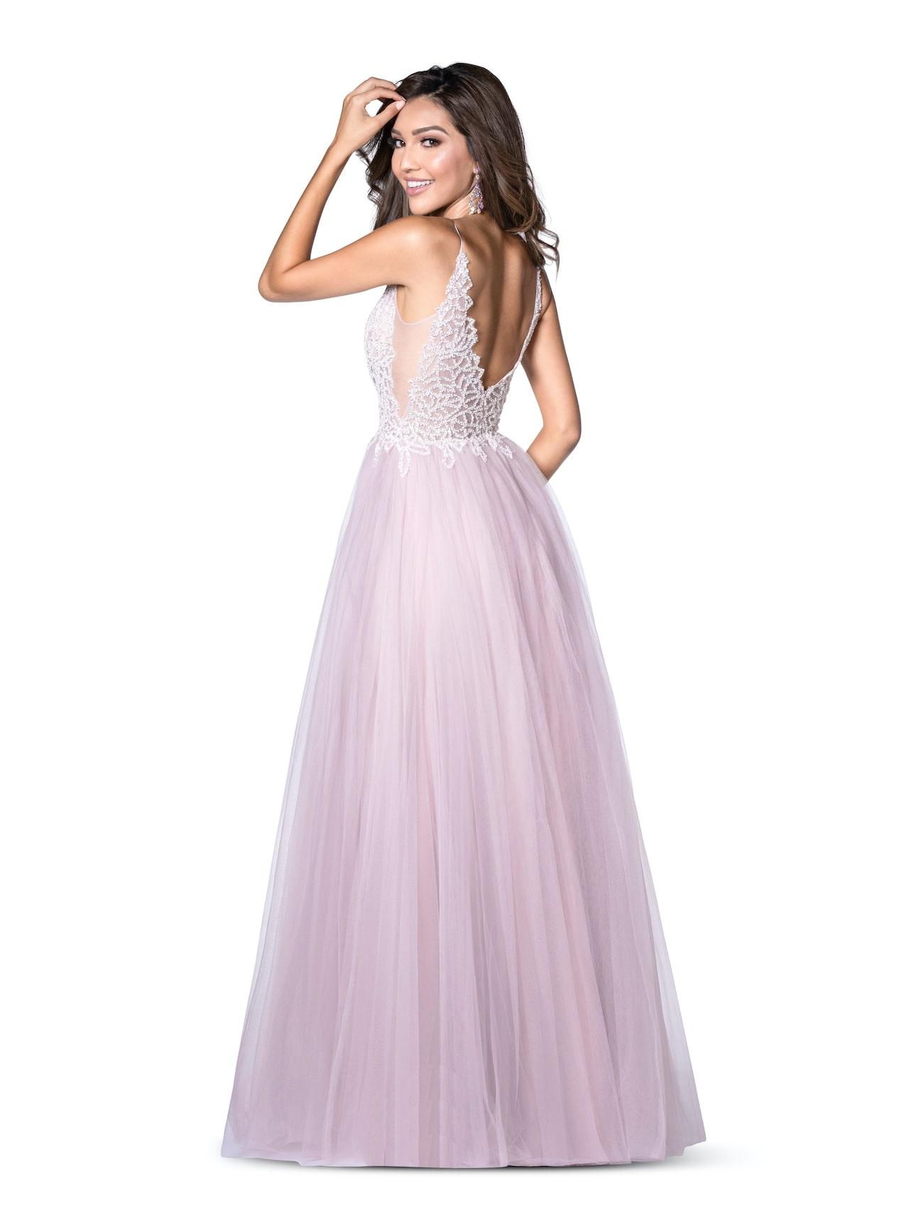 Vienna Light Blue Size 16 A-line Backless Side slit Dress on Queenly