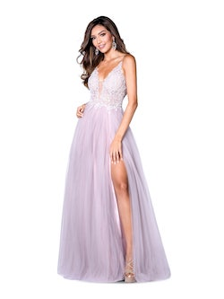 Style 7848 Vienna Pink Size 6 A-line Backless Side slit Dress on Queenly
