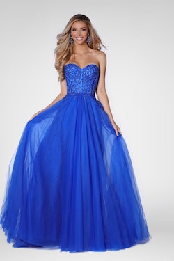 Vienna Blue Size 12 Backless A-line Dress on Queenly