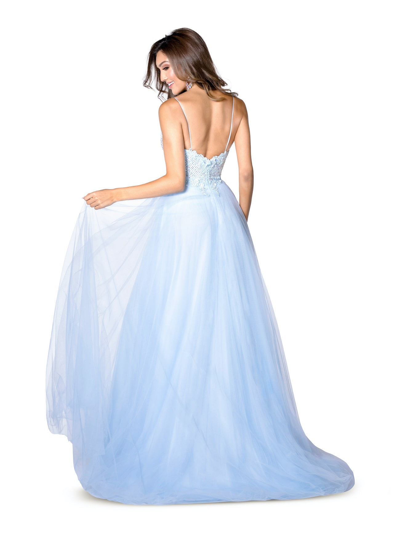 Vienna Purple Size 6 Lavender Light Blue Backless A-line Dress on Queenly