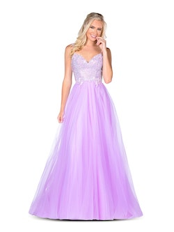 Vienna Purple Size 8 Lavender Light Blue Backless A-line Dress on Queenly
