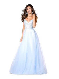 Vienna Light Blue Size 10 Backless A-line Dress on Queenly