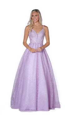 Vienna Purple Size 8 Periwinkle Prom Ball gown on Queenly