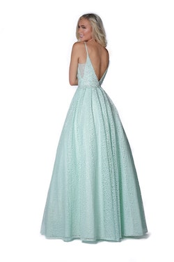 Vienna Light Green Size 2 Backless Ball gown on Queenly