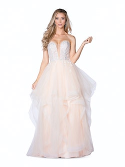 Vienna Nude Size 2 Plunge Backless Ball gown on Queenly