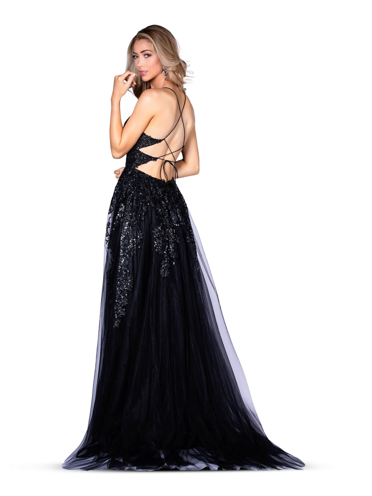 Vienna Black Size 8 Sweetheart Backless A-line Dress on Queenly