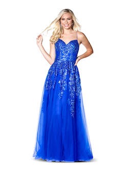 Vienna Blue Size 2 Sweetheart Backless A-line Dress on Queenly