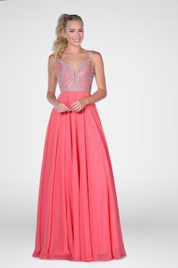 Queenly size 16 Vienna Orange A-line evening gown/formal dress