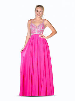 Vienna Pink Size 4 Pattern Backless A-line Dress on Queenly