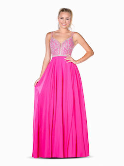 Vienna Pink Size 12 Pattern Backless A-line Dress on Queenly