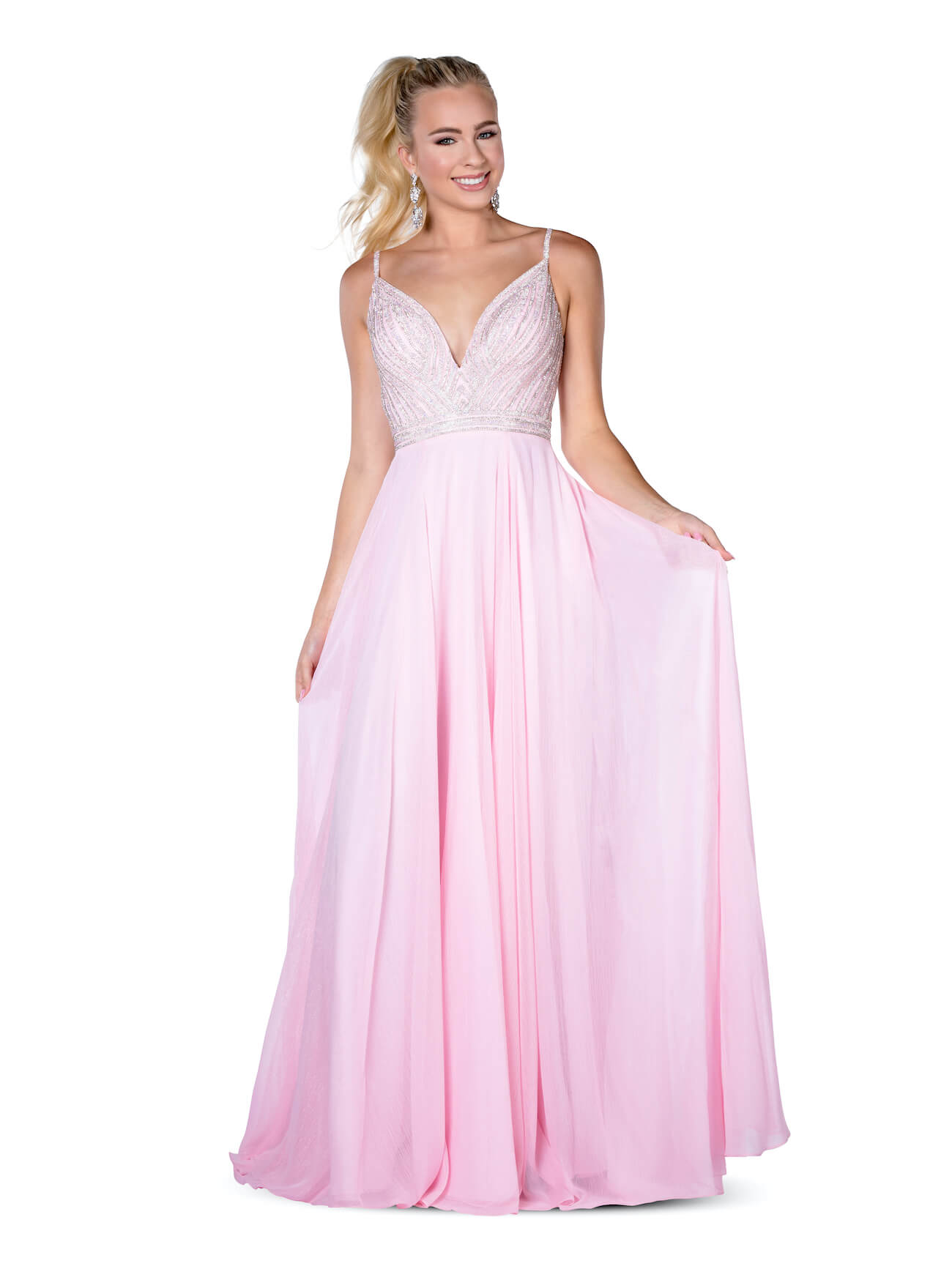 Queenly size 6 Vienna Pink A-line evening gown/formal dress