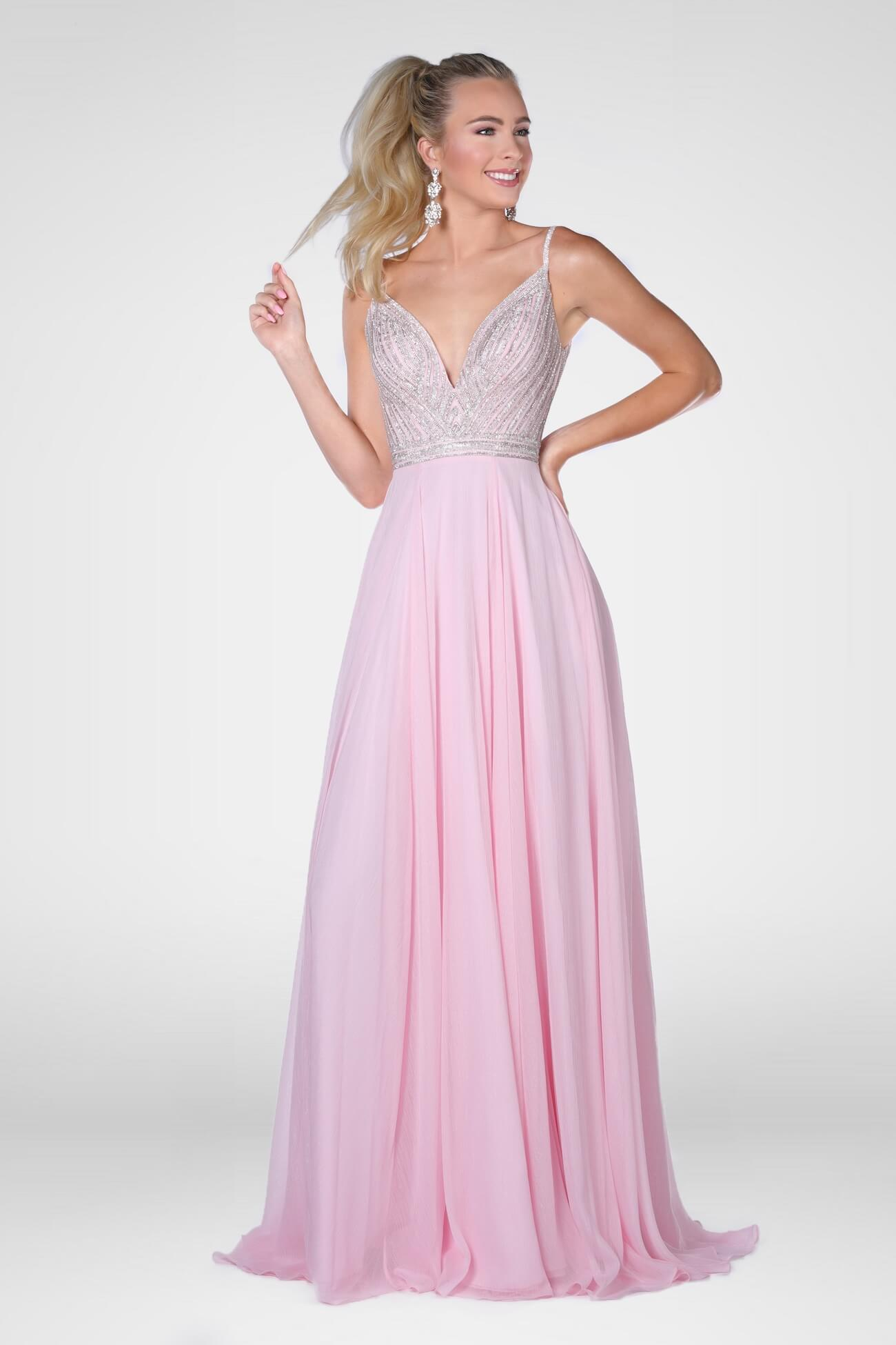 Vienna Light Pink Size 8 A-line Dress on Queenly