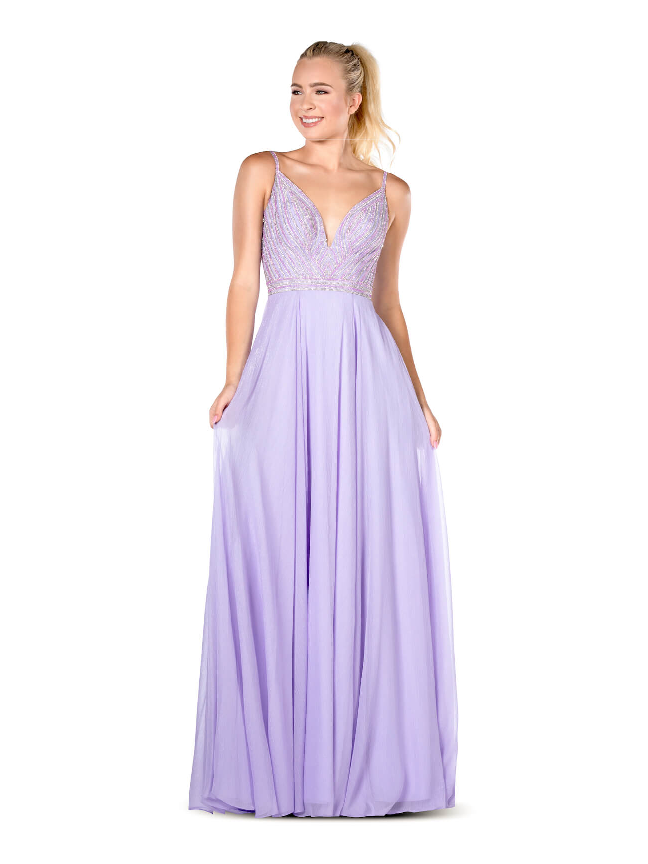 Queenly size 2 Vienna Purple A-line evening gown/formal dress