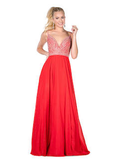 Vienna Red Size 10 Backless A-line Dress on Queenly