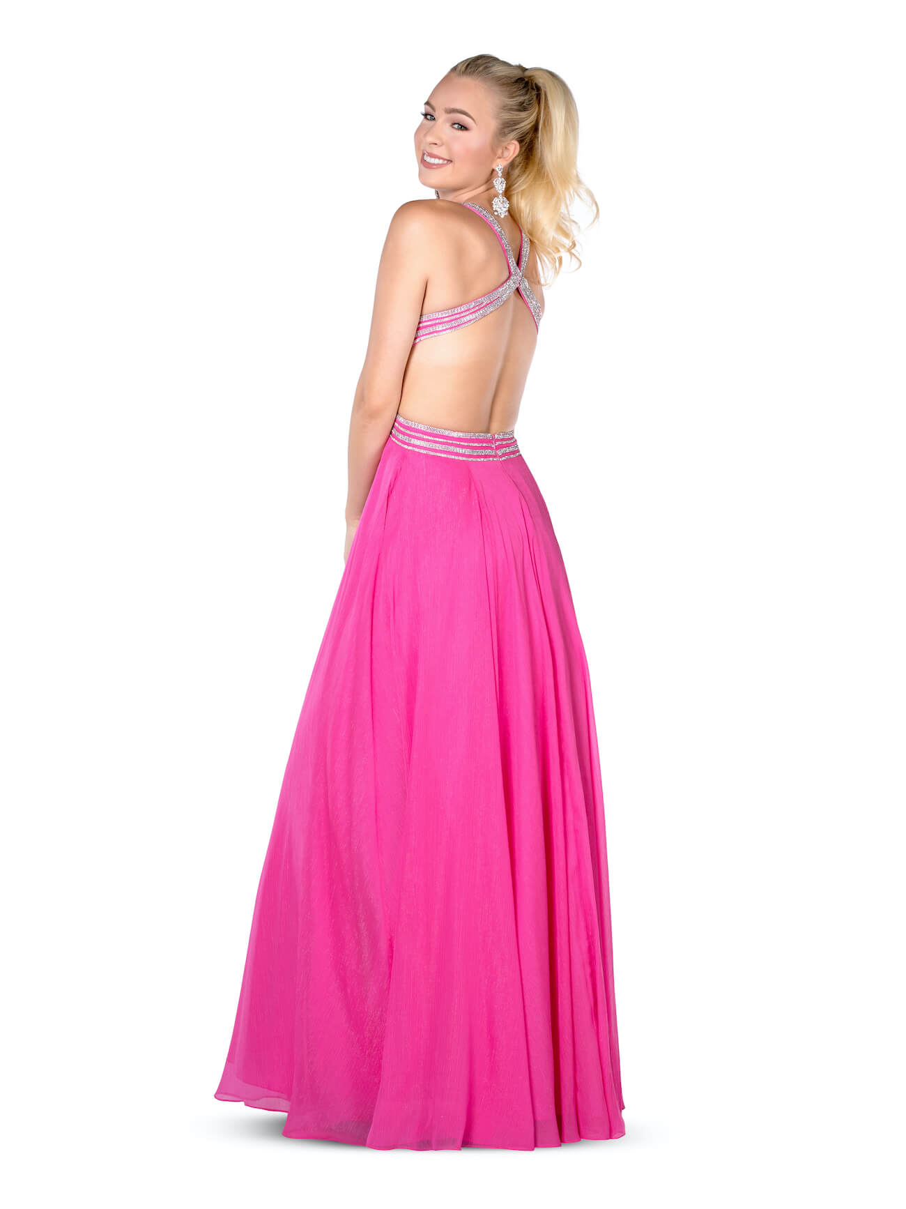 Vienna Pink Size 00 Cut Out A-line Dress on Queenly