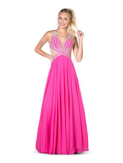 Vienna Pink Size 6 Backless A-line Dress on Queenly