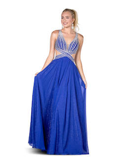 Vienna Blue Size 4 Backless A-line Dress on Queenly