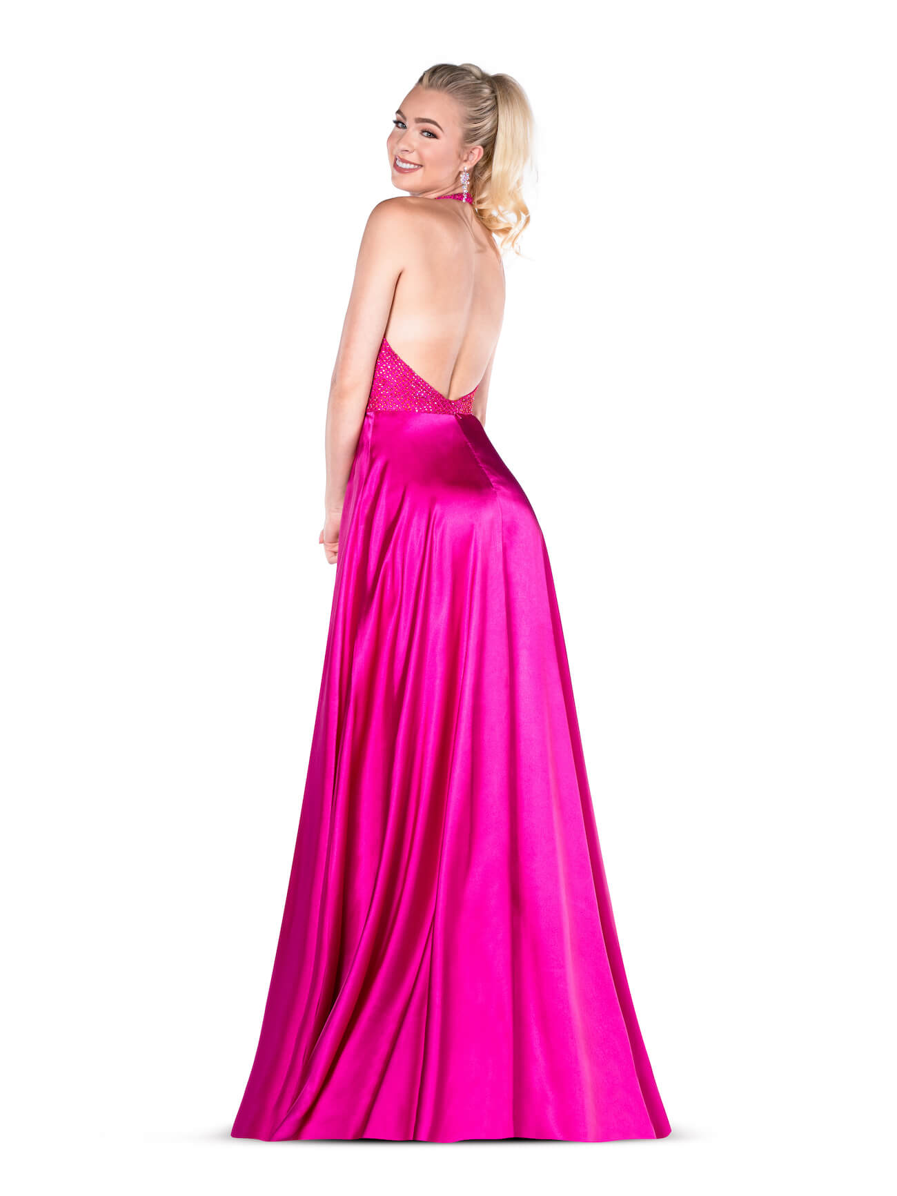 Vienna Purple Size 8 A-line Backless Side slit Dress on Queenly