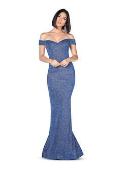 Vienna Blue Size 4 Prom Mermaid Dress on Queenly
