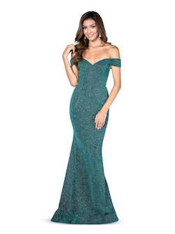 Vienna Green Size 10 Mermaid Dress on Queenly
