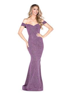 Queenly size 2 Vienna Purple Mermaid evening gown/formal dress