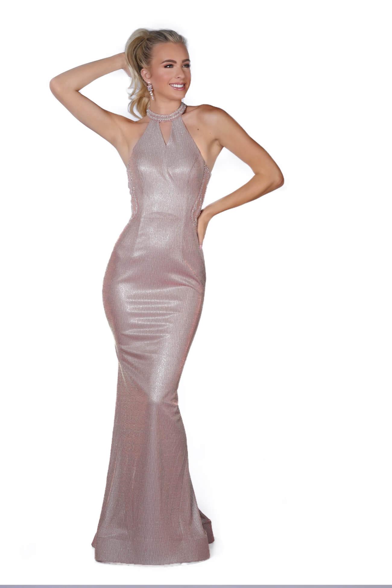 Vienna Pink Size 2 Halter Mermaid Dress on Queenly