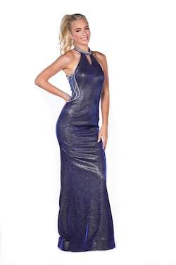 Vienna Blue Size 2 Halter Mermaid Dress on Queenly