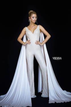 Queenly size 00 Vienna Gold Romper/Jumpsuit evening gown/formal dress