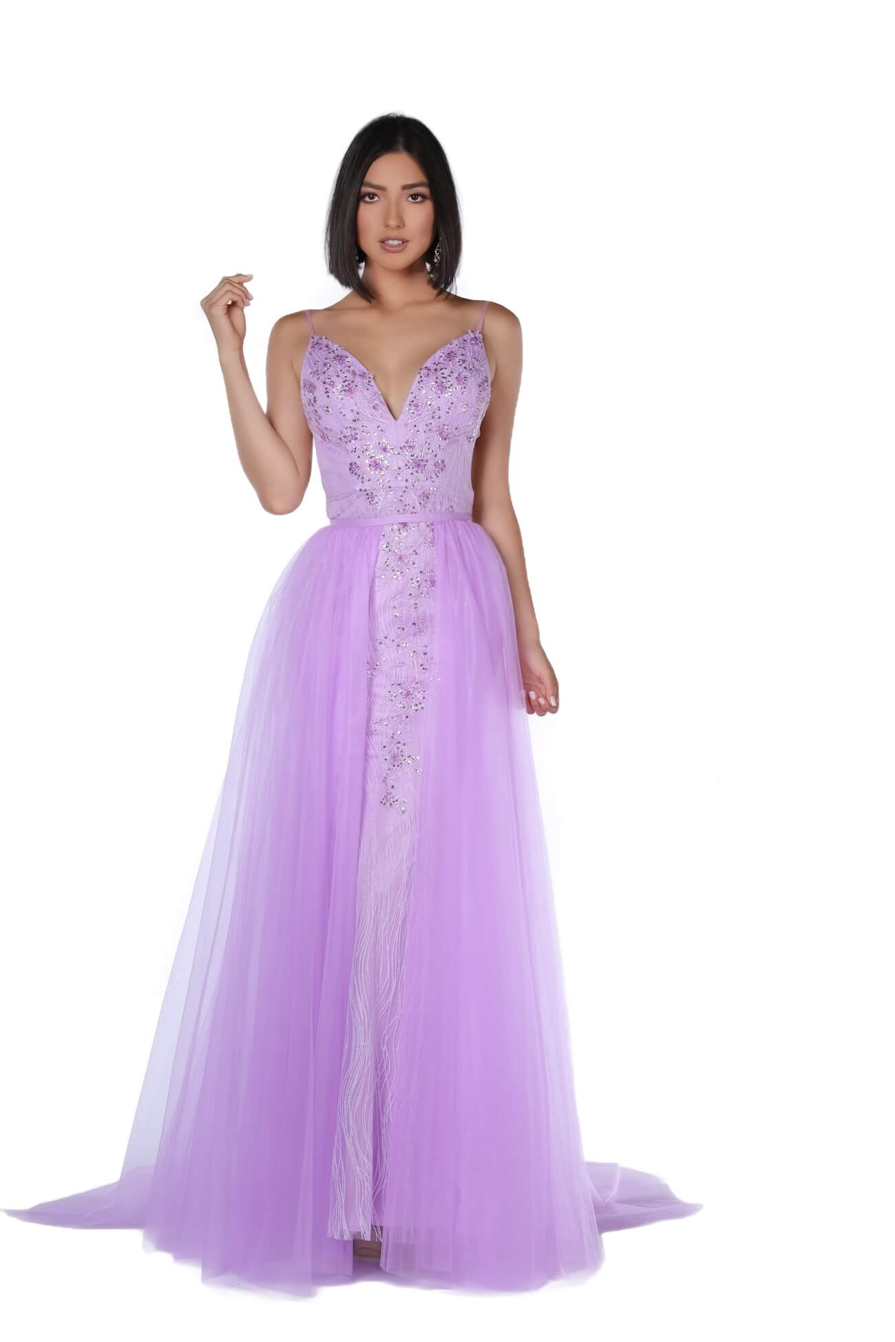 Queenly size 2 Vienna Purple Train evening gown/formal dress