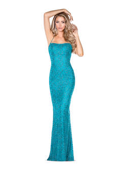 Vienna Green Size 8 Tall Height Backless Straight Dress on Queenly