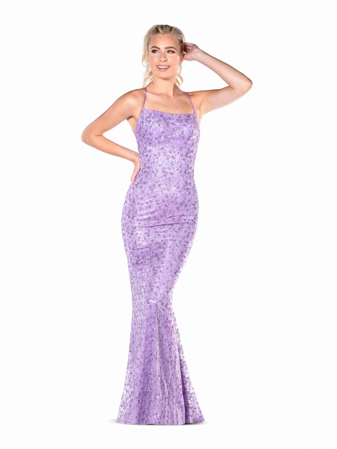 Queenly size 2 Vienna Purple Straight evening gown/formal dress