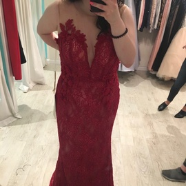 Tarik Ediz Red Size 12 Plus Size Straight Dress on Queenly