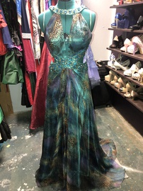 Sherri Hill Multicolor Size 12 Plus Size Backless Train Dress on Queenly