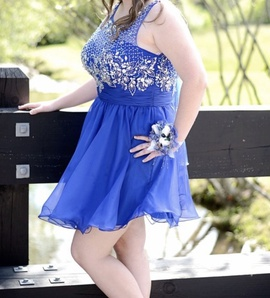 Queenly size 14  Blue Cocktail evening gown/formal dress
