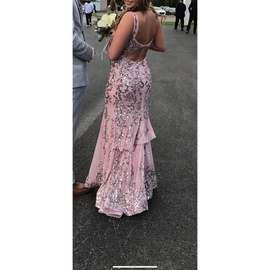 Sherri Hill Pink Size 4 Jewelled Strapless Sequin Ball gown on Queenly