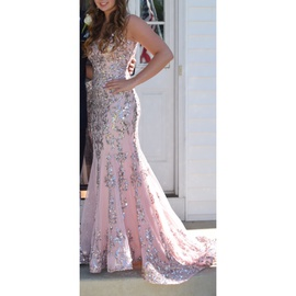 Queenly size 4 Sherri Hill Pink Ball gown evening gown/formal dress